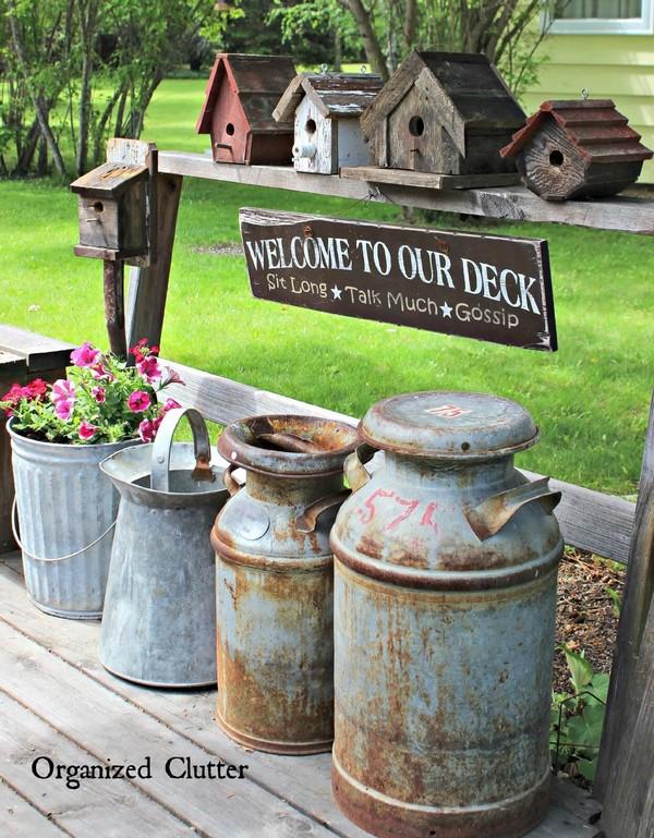 hermosas ideas para decorar un jardin vintage