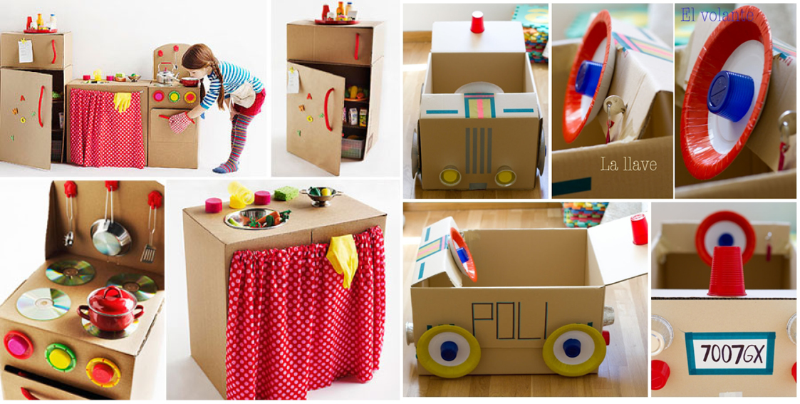 10 juguetes caseros para ni os hechos con cart n - Trabajos caseros para hacer en casa ...