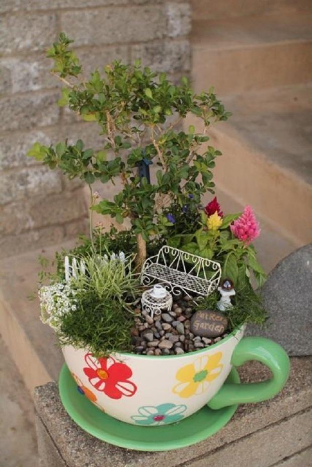 locos proyectos para crear jardines de interior en miniatura