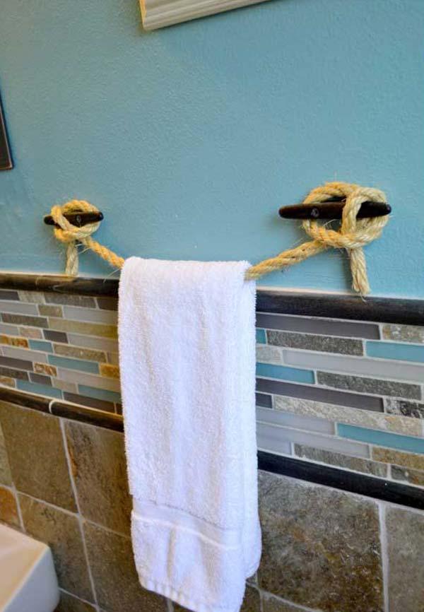 15+ Formas Creativas de Lucir Toallas en el Baño