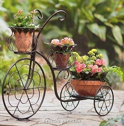 20 Ideas Geniales Macetas para Bicicletas