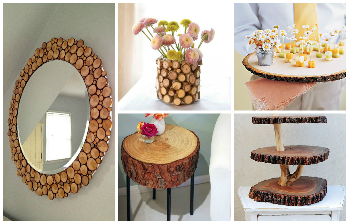 10 decoraciones manualidades en madera for Ideas creativas para decorar el hogar