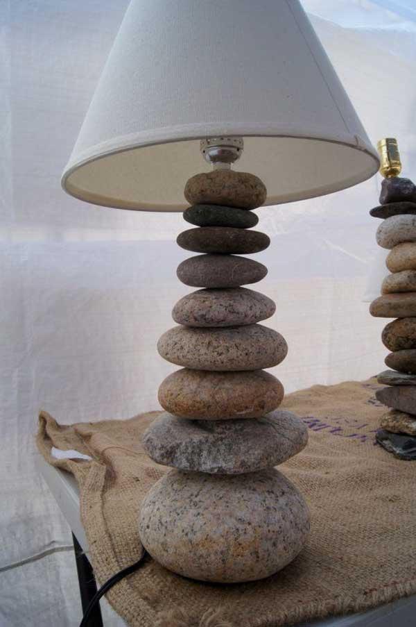 Brillantes ideas para hacer artesan as con piedras de r o - Hacer pared de piedra ...