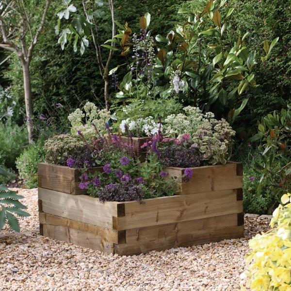 15+ Hermosos Y Originales Maceteros de Madera para Tu Jardin