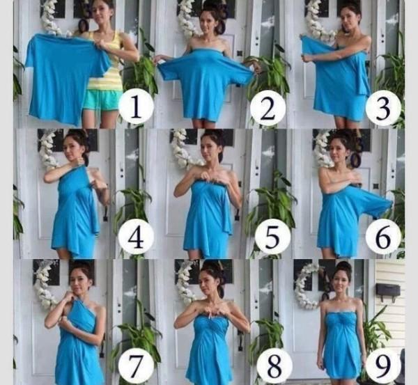 Cómo hacer un vestido con una camisa