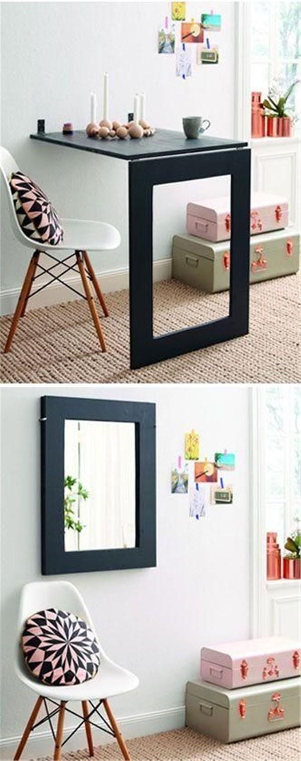 15 ingeniosos muebles para ahorrar espacio for Adornos para poner encima de una mesa de salon