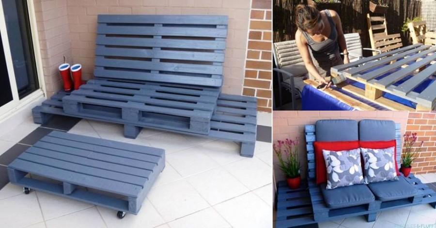 20 ideas muebles de exterior hechos con palets for Muebles de exterior con palets