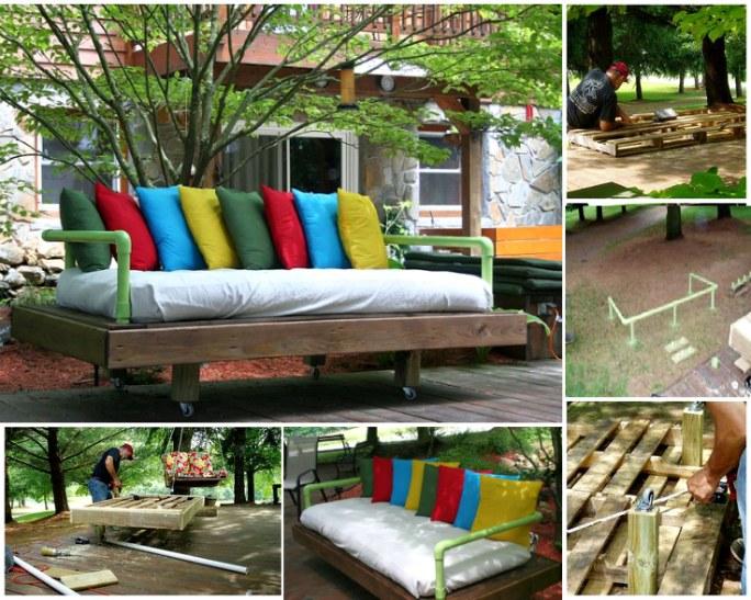 20+ Ideas Muebles de Exterior Hechos con Palets