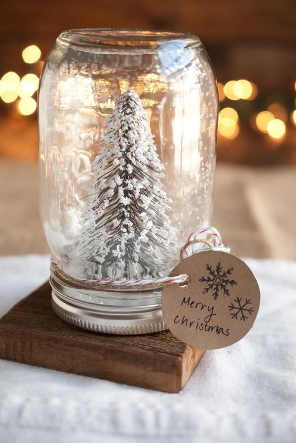 15+ Ideas Fáciles de Navidad con Tarros de Albañil