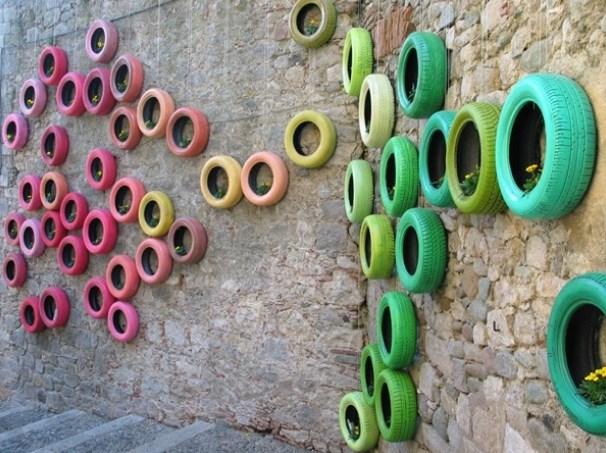 15+ Fascinantes Ideas Creativas de Neumáticos Ceciclados