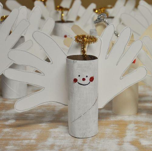 25+ Geniales Adornos de Navidad Hecho con Rollos de Papel Higiénico