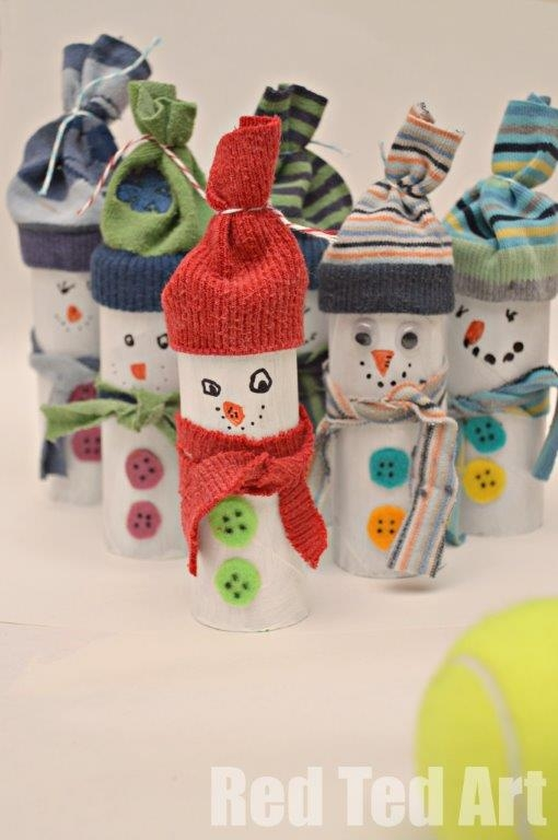 25 geniales adornos de navidad hecho con rollos de papel - Adornos navidenos con rollos de papel higienico ...