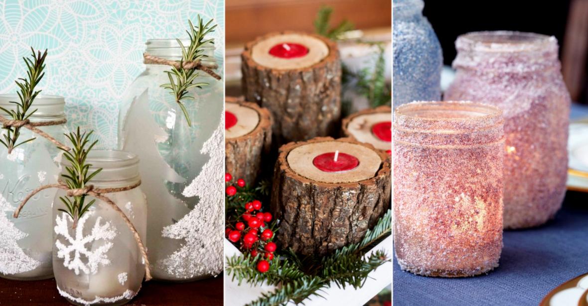 15 ideas originales para decorar portavelas para navidad - Ideas originales navidad ...