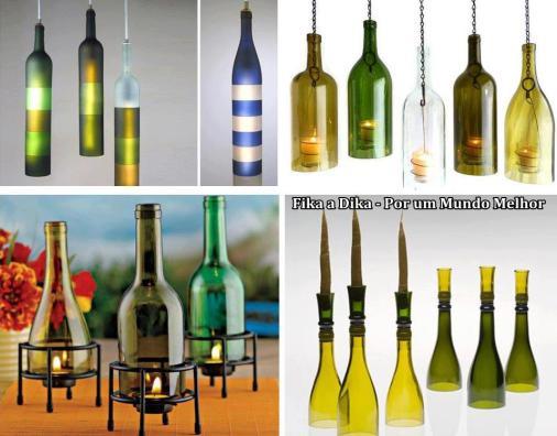 ideas para reciclar botellas de vidrio de forma genial