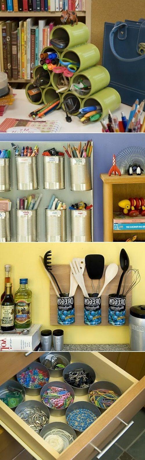 17+ Formas Innovadoras para Reciclar y Decorar Latas