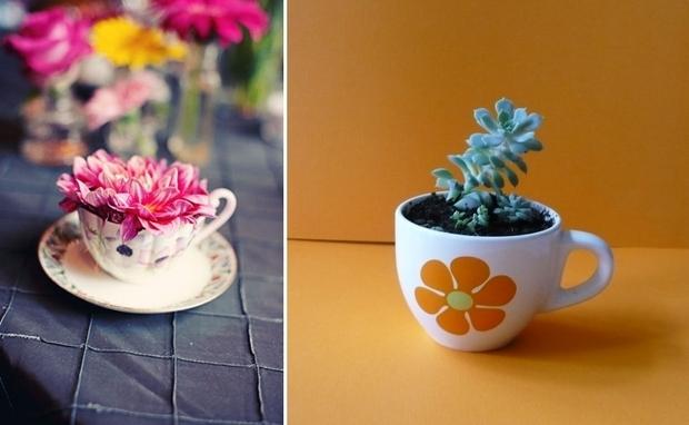 20+ Inspiradoras Ideas Para Reutilizar Tazas y Teteras
