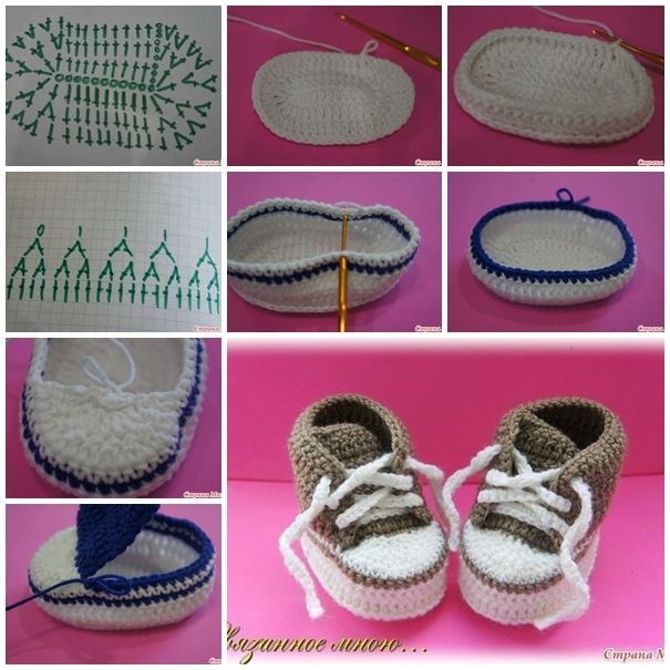 Crochet Tutorial Zapatos Bebe : 10 Tutorial Zapatos BebE Crochet o Ganchillo